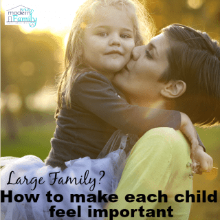 How to make each child feel important (in a large family)