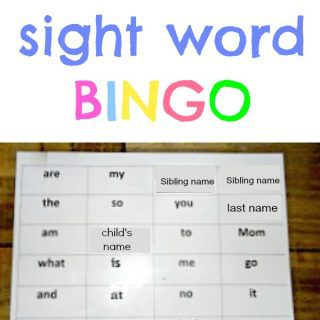 ABC Bingo & sight word bingo
