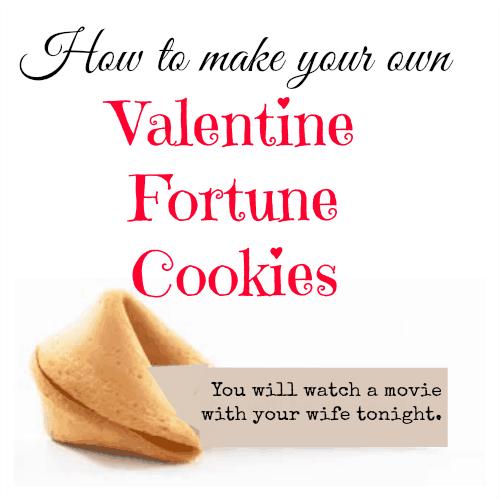 diy valentine fortune cookies