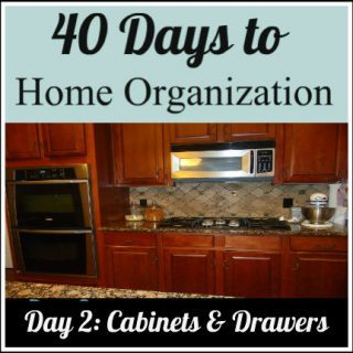 Day 2 & 3: Organizing your cabinets and drawers in 5 steps