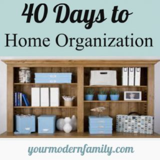 40 days to home organization index