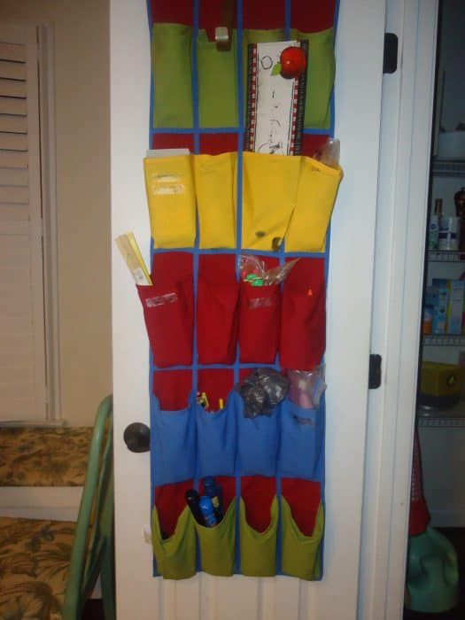 bench storage organizing home for kids 024