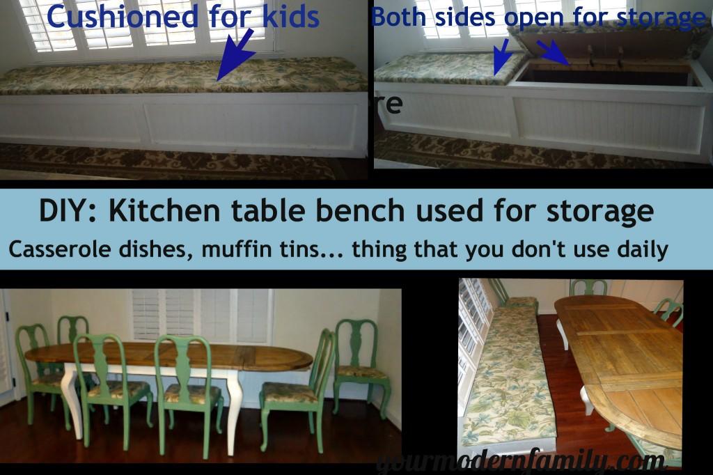 kitchen bench storage