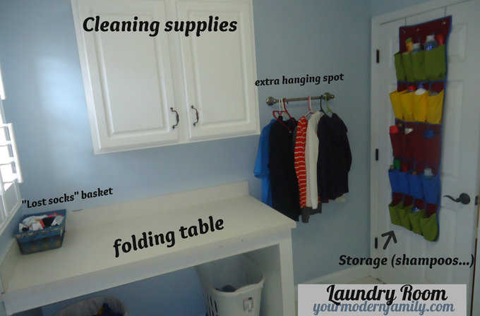 organizing a laundry room