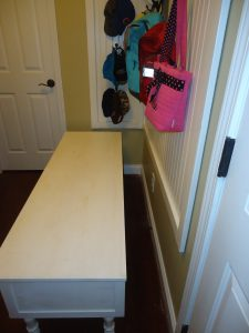 make your mudroom bench 015