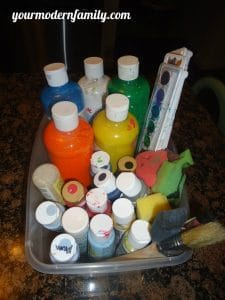 organizing your art supplies