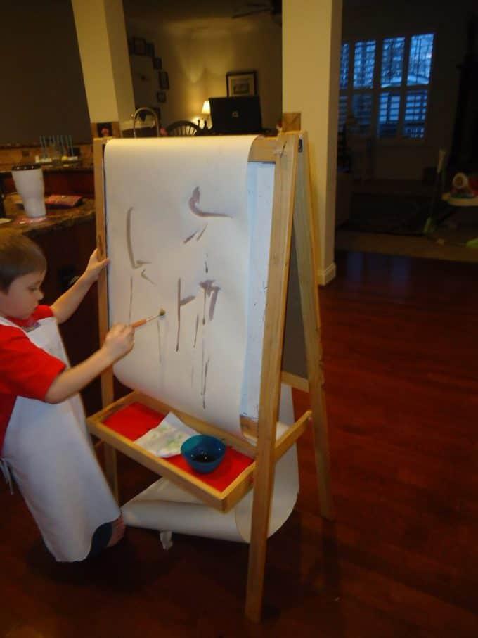 painting with kool aid