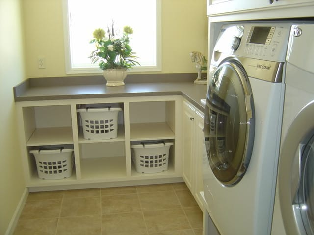 Small Cabinet For Laundry Basket In Modern Room