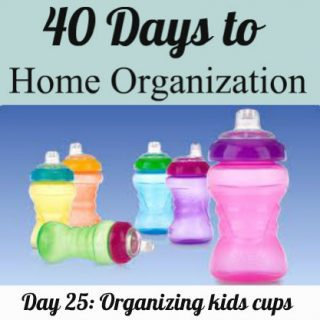 Day 25: Organizing kids cups