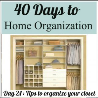 Day 21: Tips to organize your closet
