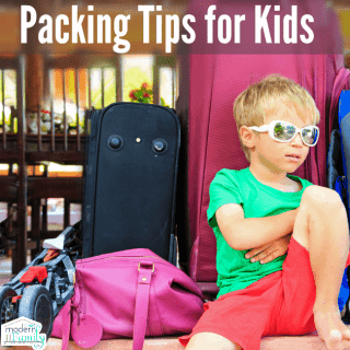 Packing for a trip with kids!  (with a video hack you'll love!)