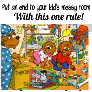Teaching a child to keep their room clean
