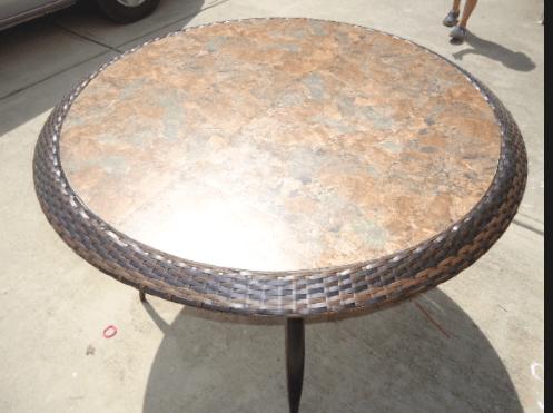 diy replace glass tabletop with tile for under 15. Black Bedroom Furniture Sets. Home Design Ideas