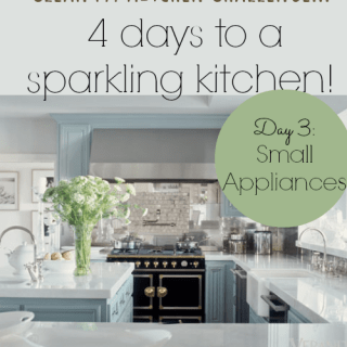Clean My Kitchen Day 3 – how to clean small appliances