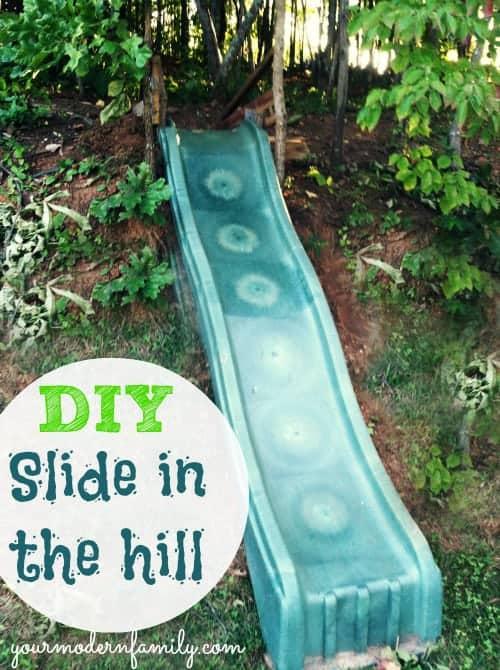 Merveilleux DIY Slide In The Hill