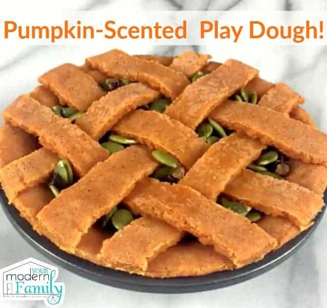 playdough pumpkin scented 2