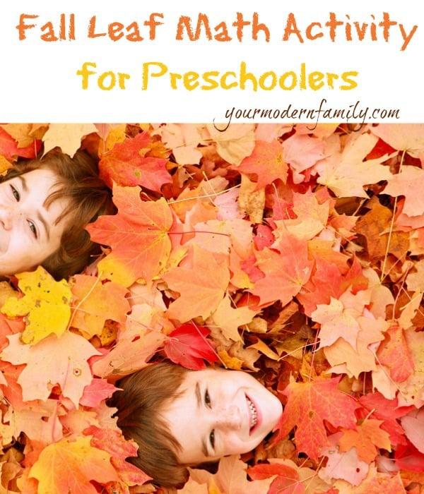 fall math lesson for preschoolers