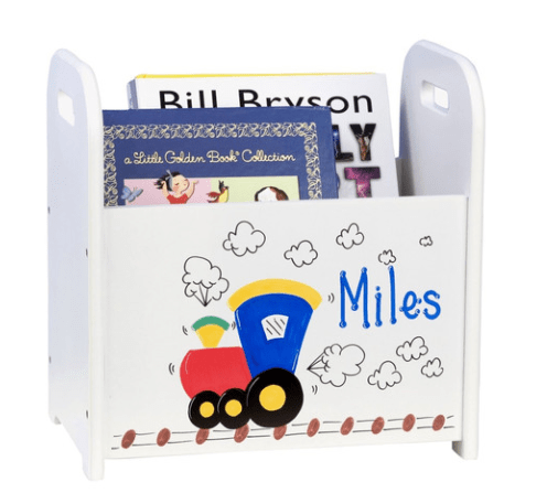 personalized book caddie - perfect for a child's room for Christmas!  (custom for you)