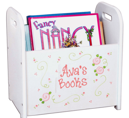 personalized book caddie for child's room (Christmas gift!) on sale