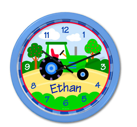 personalized clocks for kids rooms