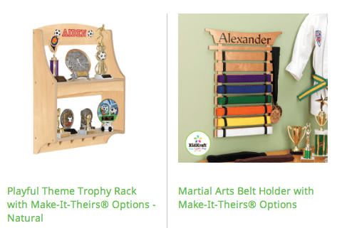 display your child's trophies