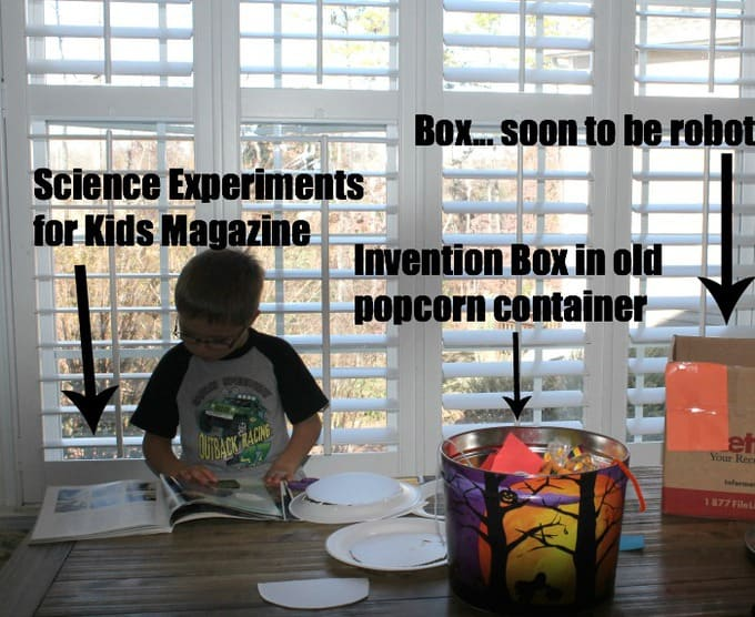 DIY invention box - make this gift for your CREATIVE kid! (hours of solo play time!)