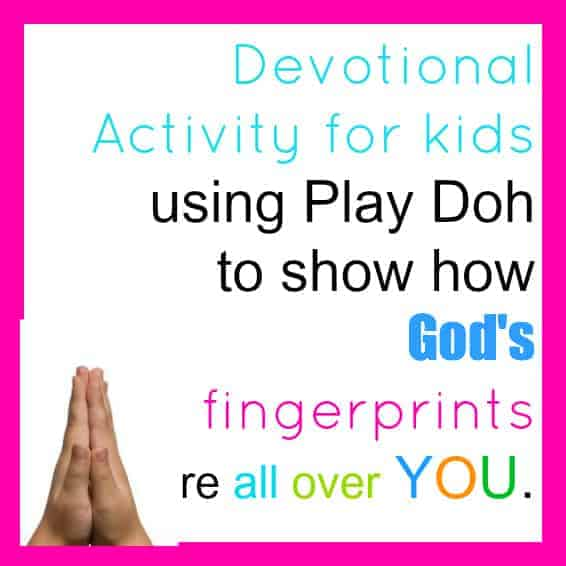 Devotional activity using play doh