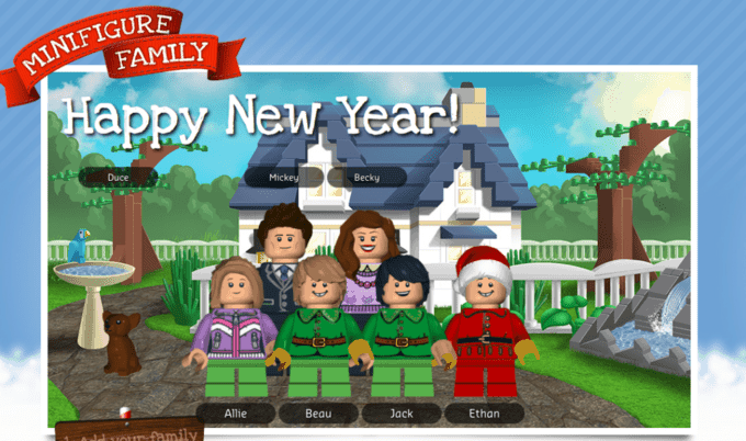 Diy Lego Family Christmas Card Your Modern Family