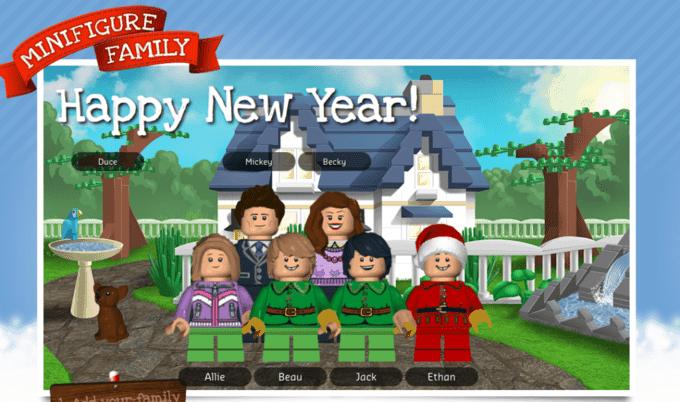 """DIY~ LEGO """"Family"""" Christmas Card - Your Modern Family"""
