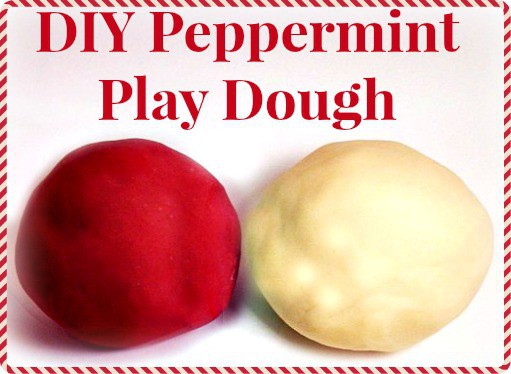 DIY peppermint play dough - easy to make & makes the house smell GREAT!