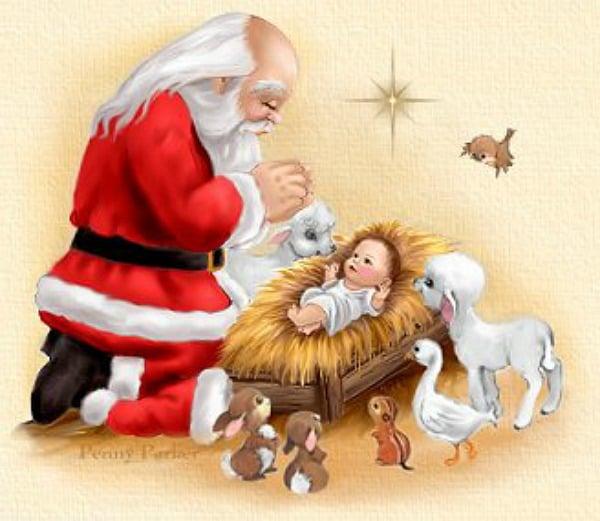santa jesus - Santa And Jesus