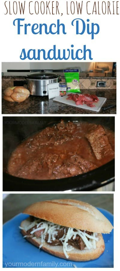 Slow-cooker, low-calorie French Dip Sandwich