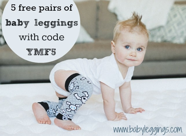 5 free pairs of baby legs at babyleggings.com with code YMF5