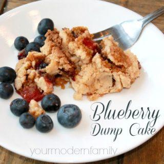 The BEST 4 ingredient blueberry dump Cake  recipe