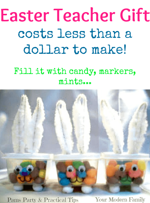 Easter teacher gift ideas easter teacher gift idea costs less than a dollar to make i filled mine negle