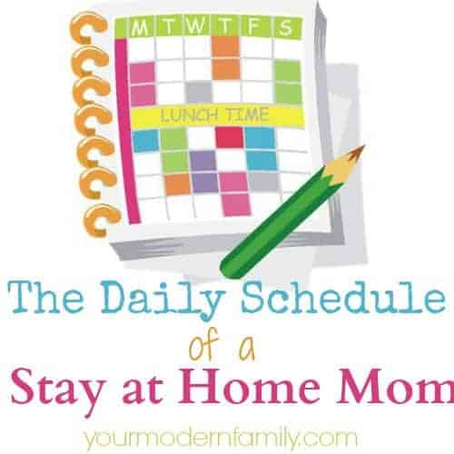 Daily Schedule Of A Stay At Home Mom