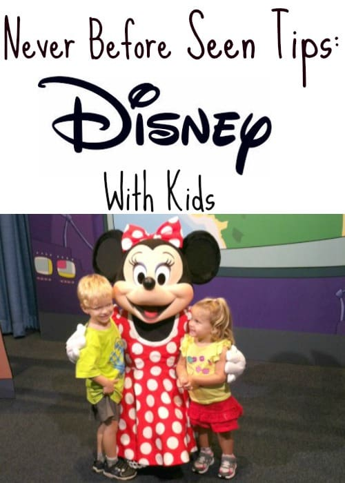 never before seen tips for disney with kids
