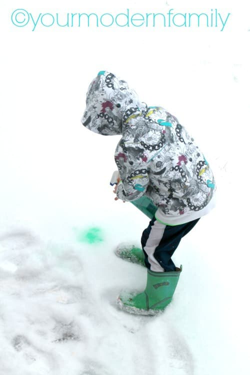 Spray paint the snow - How warm does it have to be to paint outside ...