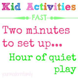 8 activities to keep kids entertained …  for when kids have spare time that needs to be filled
