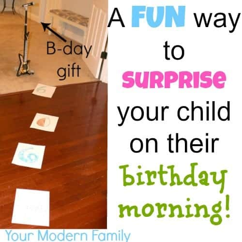 Birthday Surprise for the BEST morning!