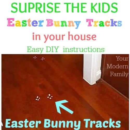 Easter Bunny Tracks in your house leading up to a note! (easy to DIY)