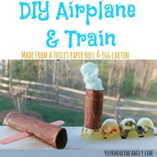 DIY airplane & train craft  (made from a toilet paper roll)