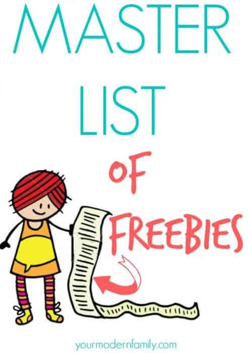 master list of freebies