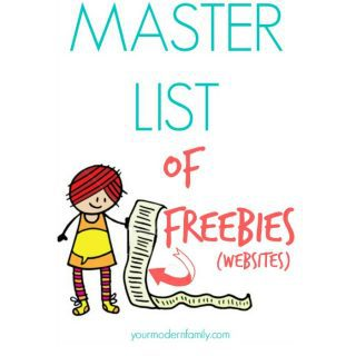 Master list of freebie websites