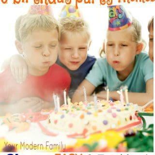 5 easy cheap birthday party ideas