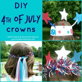 DIY 4th of July Crowns  (easy & cheap to make!)