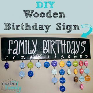 DIY wooden birthday sign