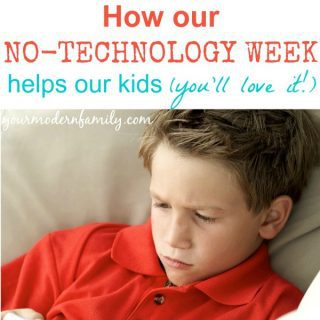 Kids Arguing?  This NO TECHNOLOGY WEEK will change that (really!  Give it a try!)