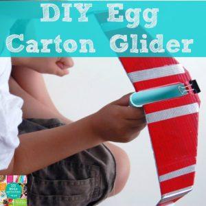 DIY egg carton glider