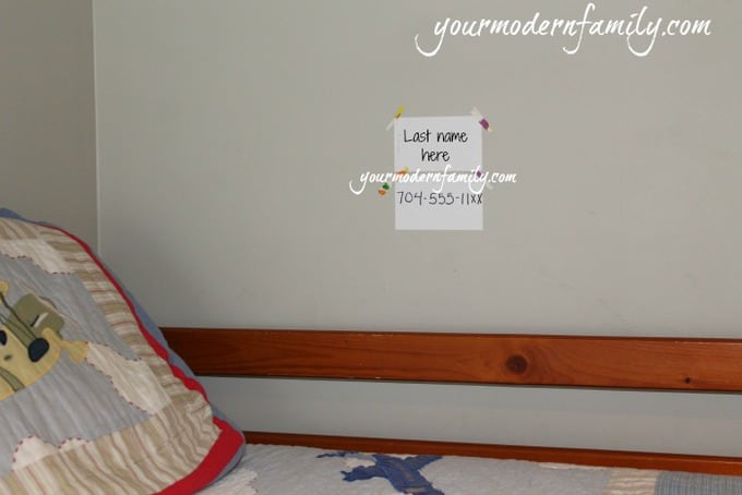 how i teach my kids their name & phone number - your modern family